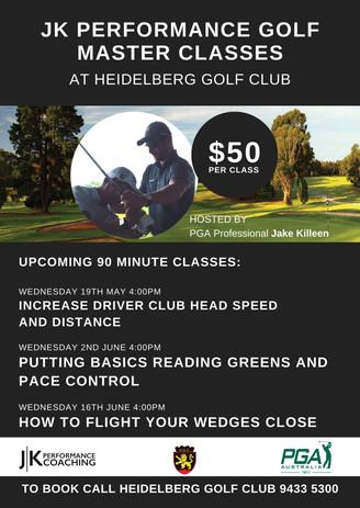 JK Performance Golf Master Class Melbour
