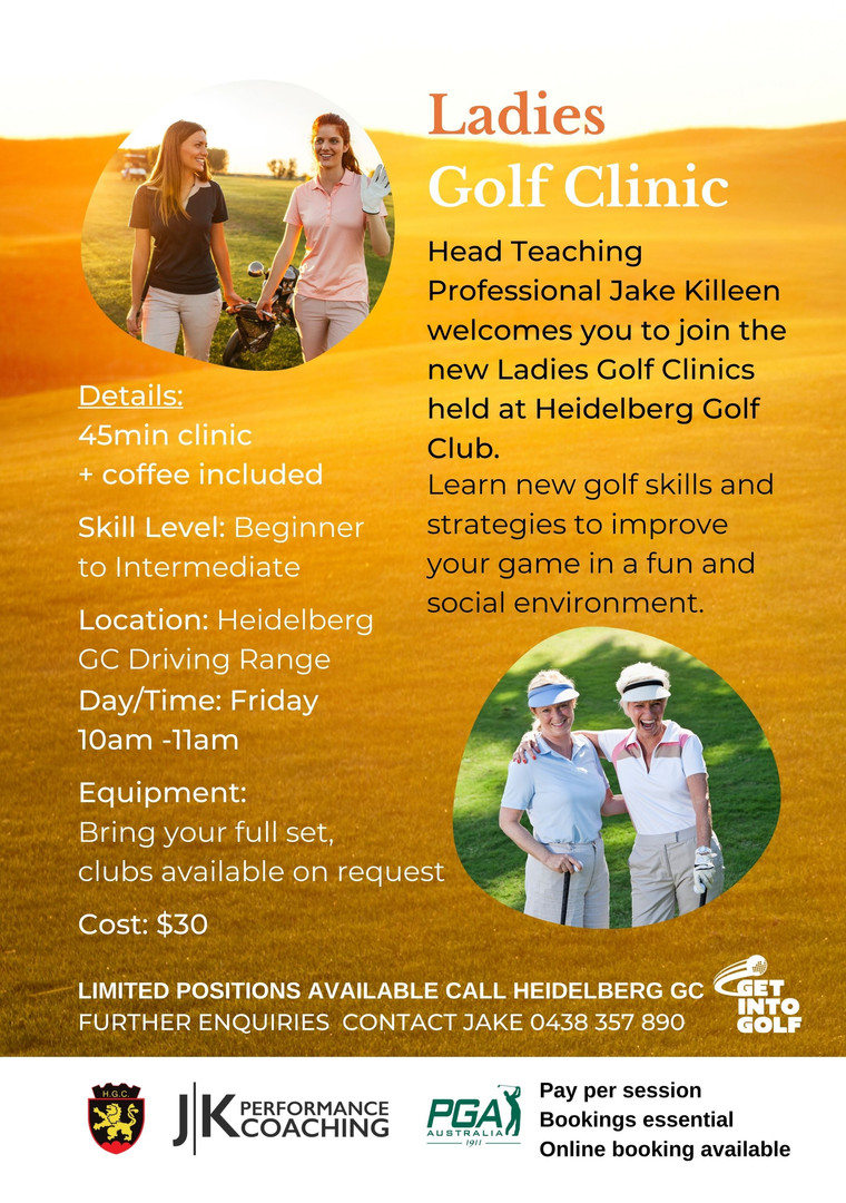 Heidelberg Ladies Golf Clinics