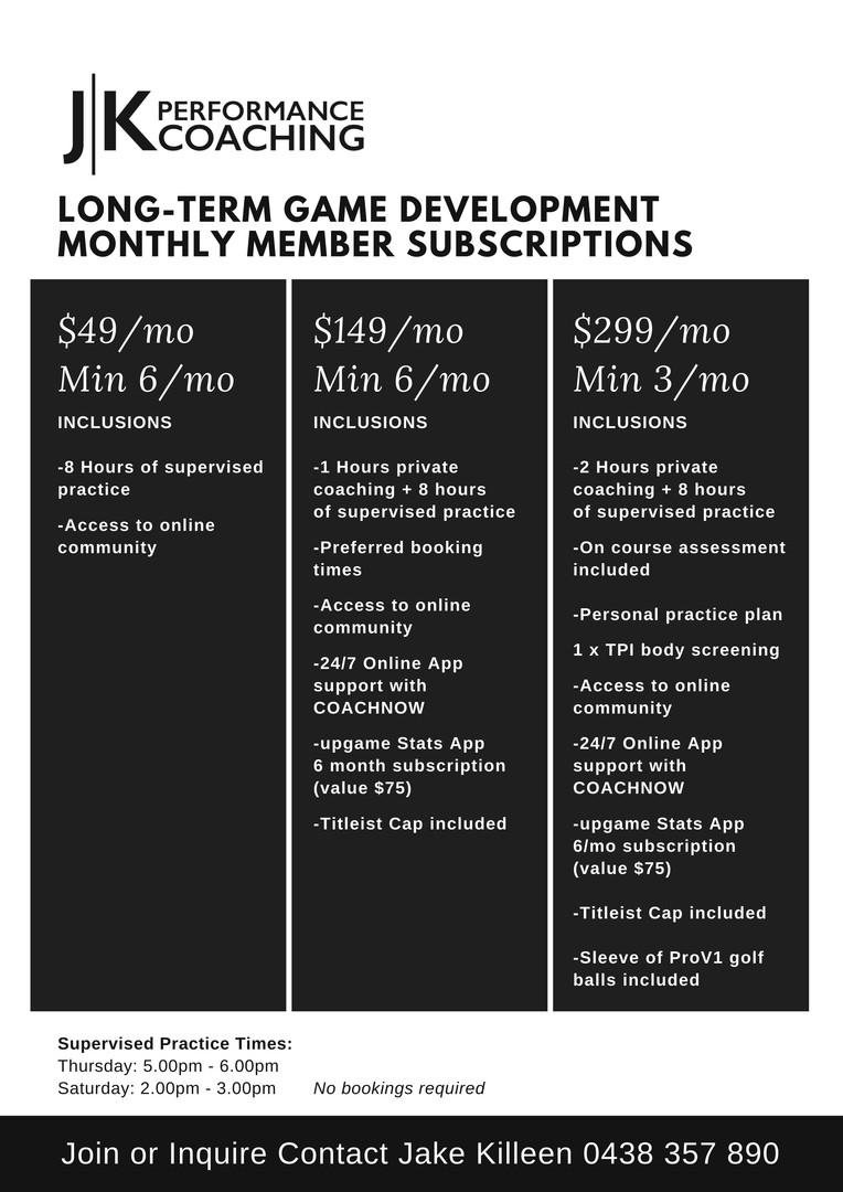 Long Term Game Development Program