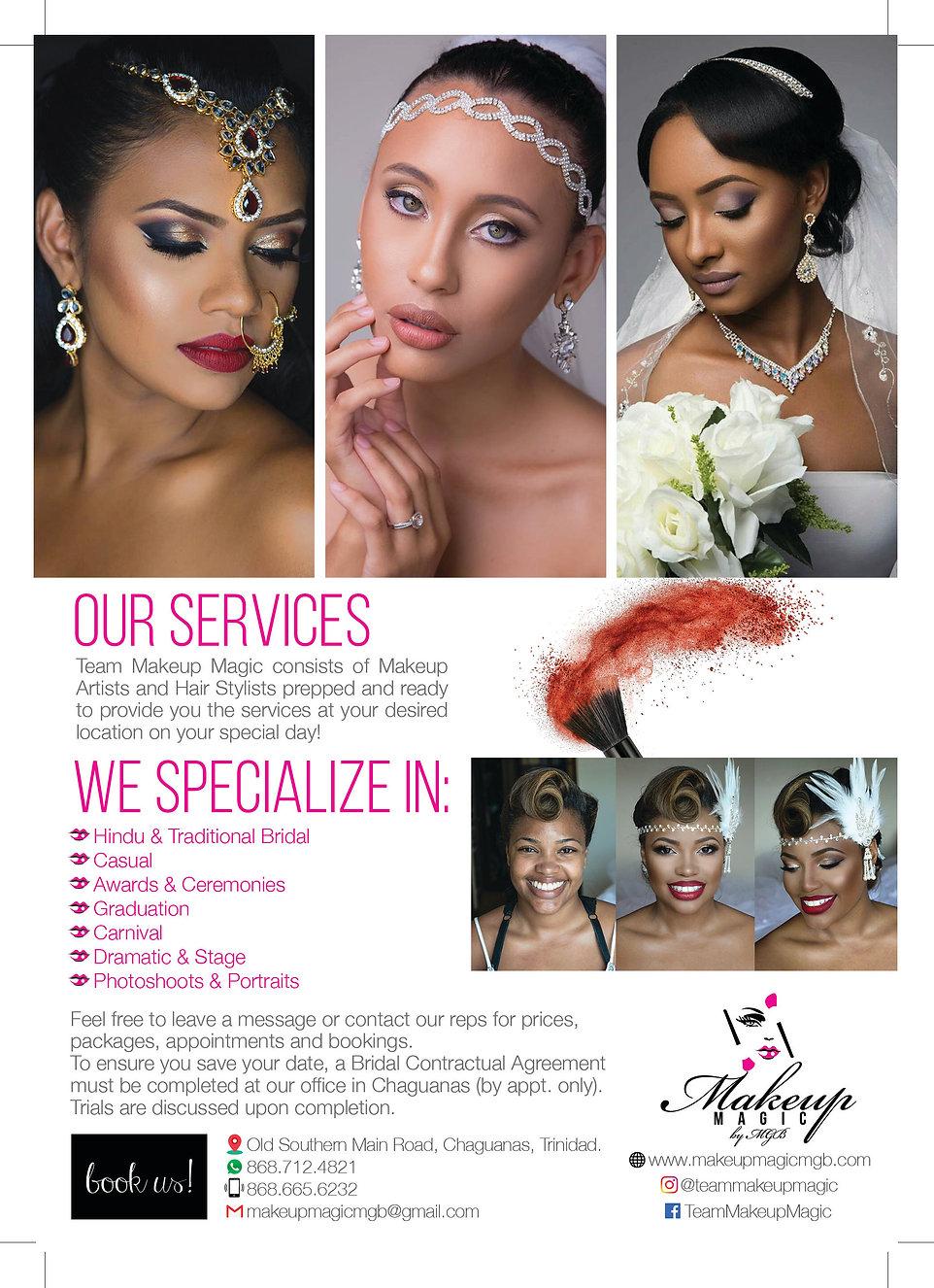 Wedding Makeup Prices in Trinidad & Tobago