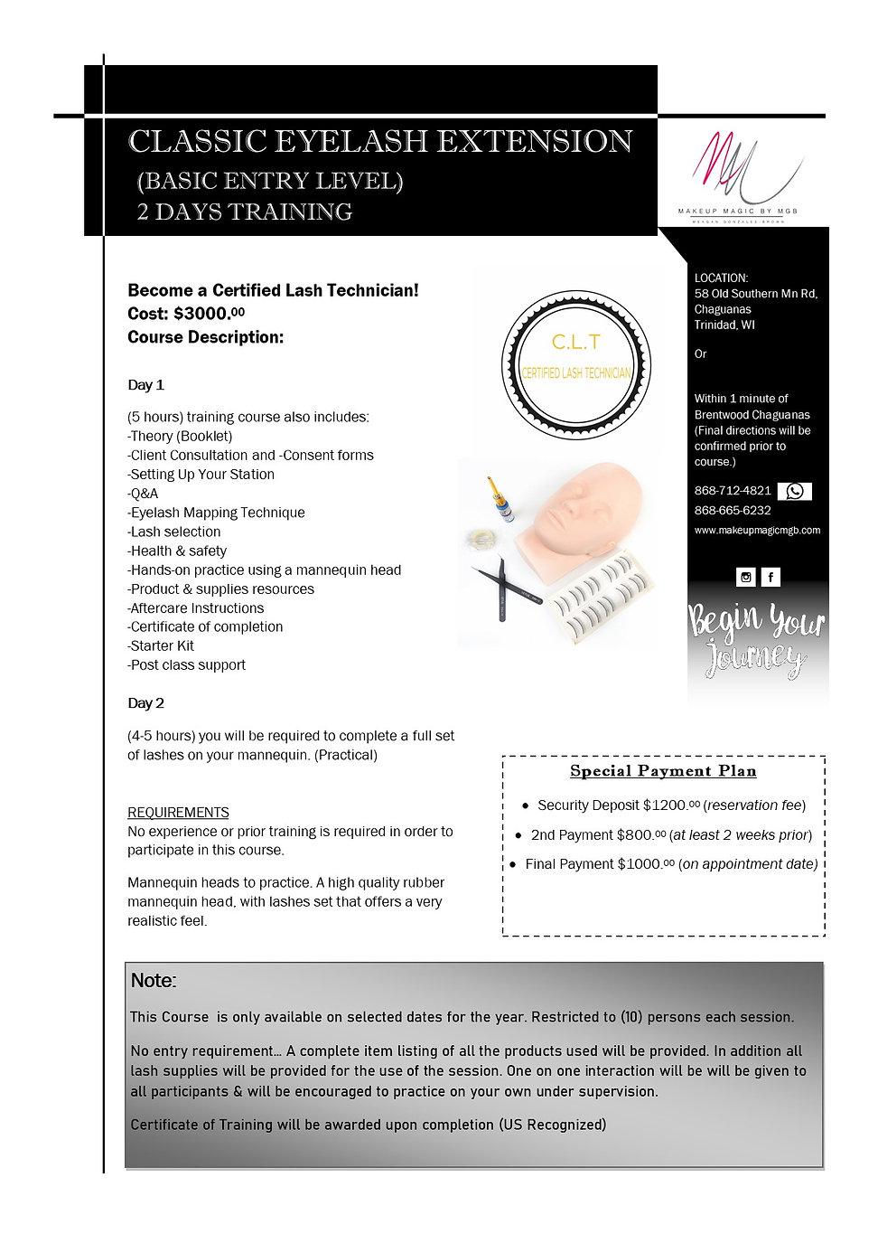 Classic Eyelash Extension Trinidad & Tobago / Lash Course Outline (Basic Entry).jpg