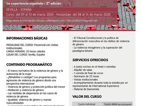 Curso Internacional: Violencia de Genero - La experiencia Española