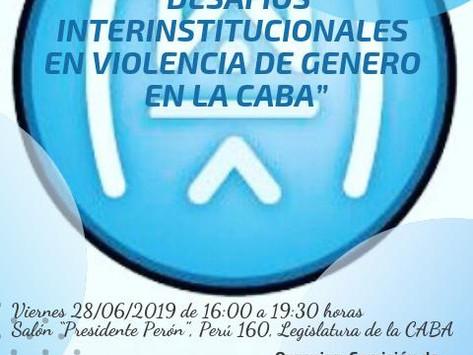 """Jornada """"Desafios Interinstitucionales en Violencia de Género en la CABA"""""""