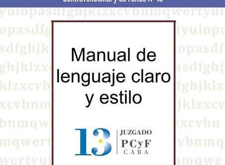 Presentacion del Manual de Lenguaje Claro del Juzgado Penal, Contravencional y de Faltas N° 13