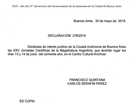 Declaración de Interés - Legislatura Porteña