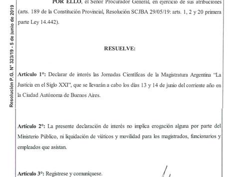 Declaración de Interés de las XXV Jornadas Científicas de la Magistratura