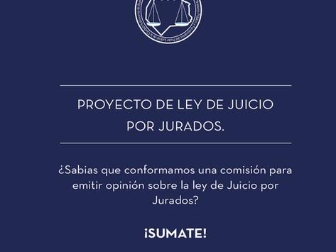 Proyecto de Ley de Juicio por Jurados