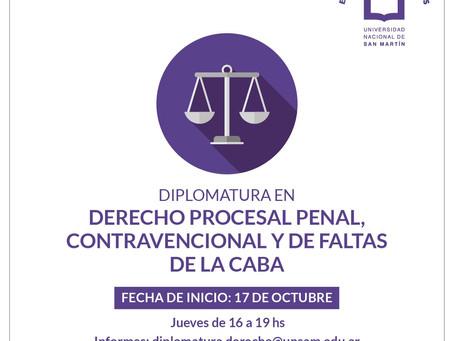 Becas para la Diplomatura en Derecho Procesal PCyF - UNSAM