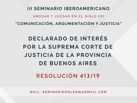 III Seminario Iberoamericano Abogar y Juzgar en el Siglo XXI