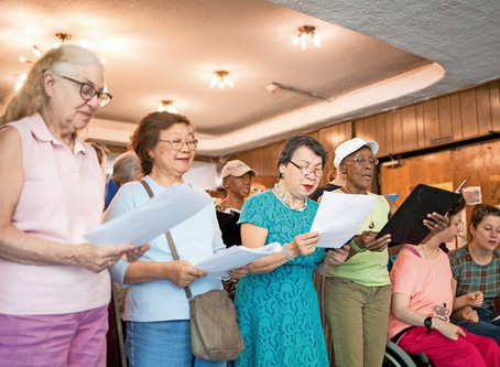 Van Cortlandt seniors sing to celebrate America's birthday