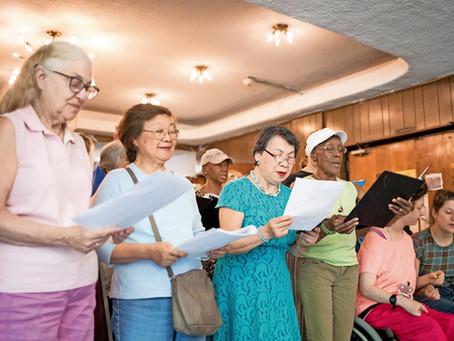 Van Cortlandt seniors sing to celebrate America's birthday