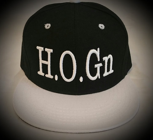 Black/White H.O.Gn Snapback Hats