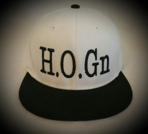 White/Black H.O.Gn Snapback Hats