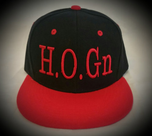 Black/Red H.O.Gn Snapback Hats
