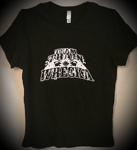 "Ladies Black ""Team Train Wrecka"" T-Shirt"