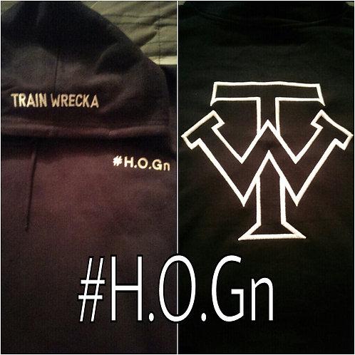 """Black Train Wrecka """"H.O.Gn"""" Hoodies"""