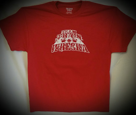 "Men Red ""Team Train Wrecka"" T-Shirt"