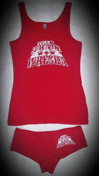 Ladies Red Tank Top/Boy Short Set