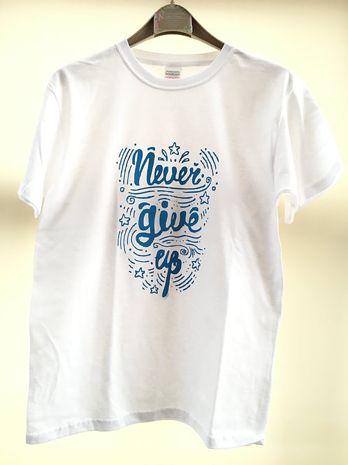 Never Give Up motivational t-shirt Long sleeve available