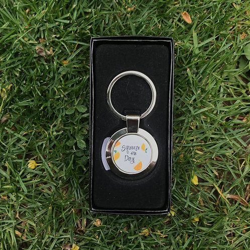 """""""Squeeze The Day"""" Keychain"""