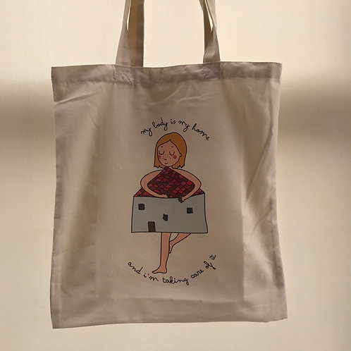 My Body Is My Home Tote Bag