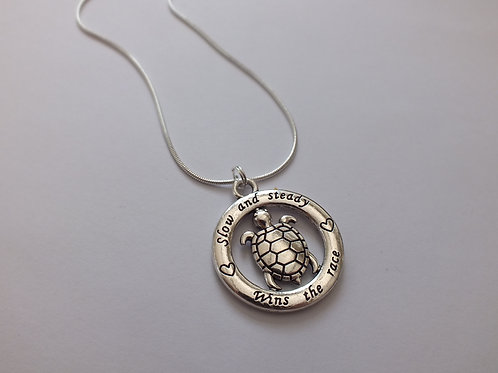 Slow And Steady Wins The Race Motivating Necklace
