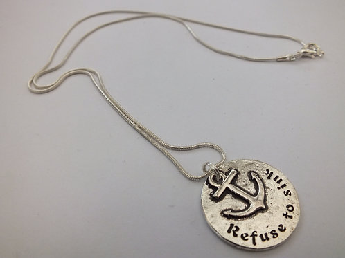 Refuse To Sink Vintage Necklace