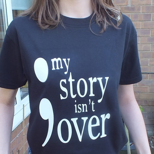 My Story Isn't Over Motivational Shirt long sleeve available