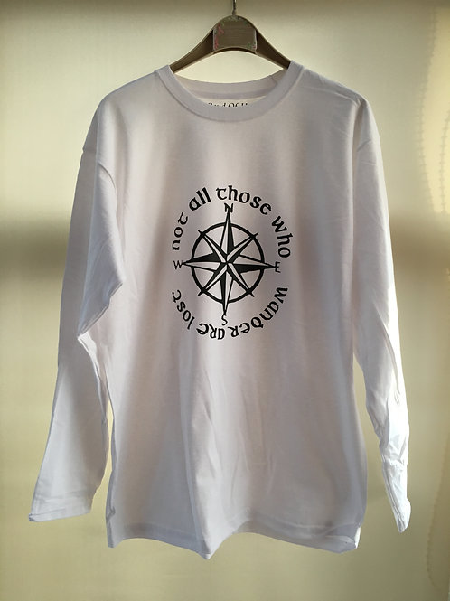 Not All Those Who Wander Are Lost Motivational Shirt (Long sleeve available)