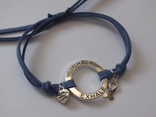 Inhale, Exhale Motivational Bracelet