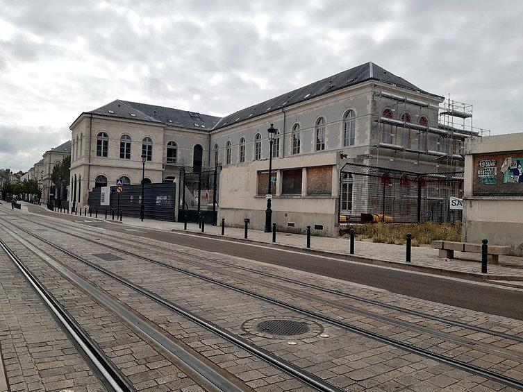 Maison de Santé Madeleine Brès en travaux avant son ouverture.