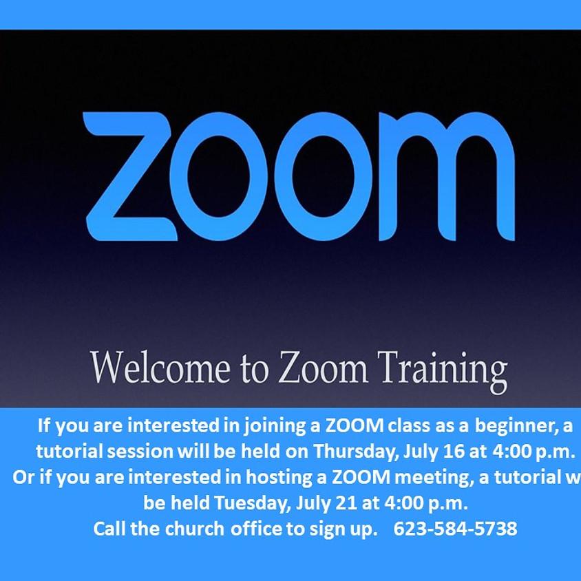 Zoom Training (Hosting)