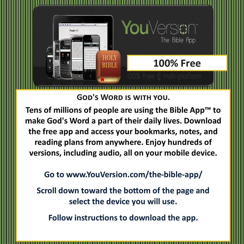New Resource - The Bible App