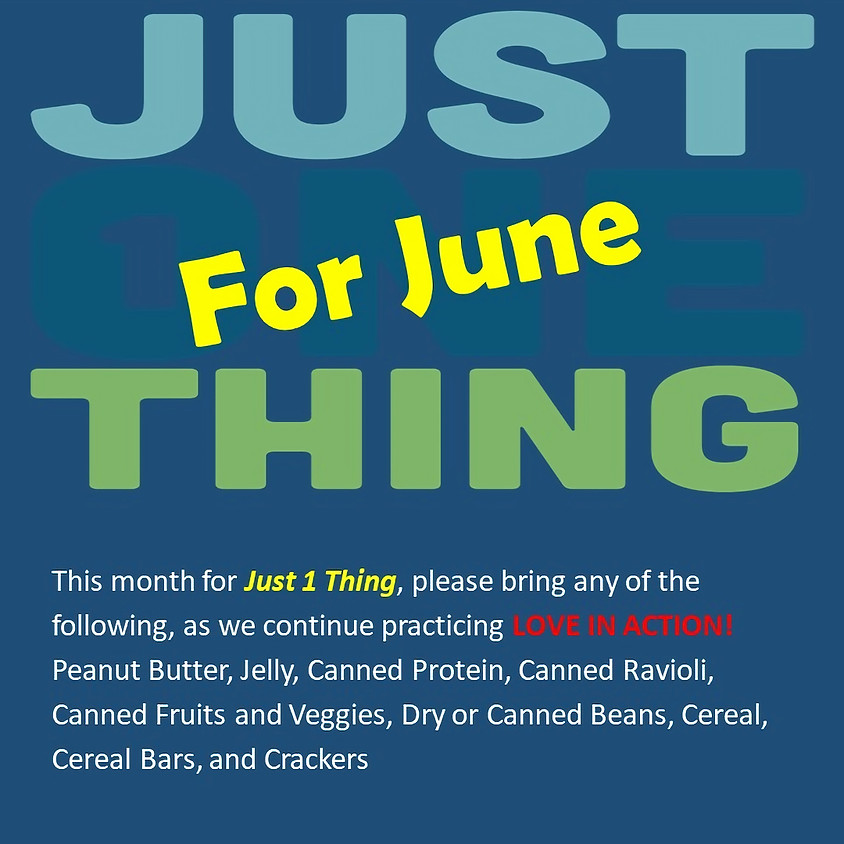 Just One Thing: June