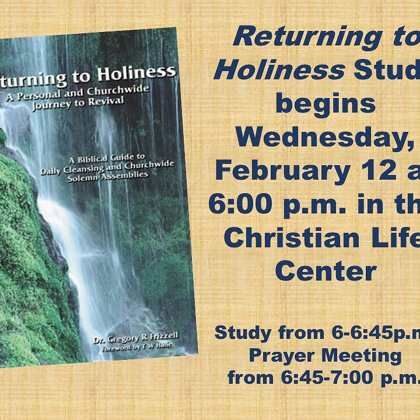 Returning to Holiness