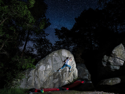 Bouldern unter Sternen