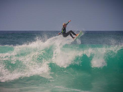 Air in Hossegor Surfing