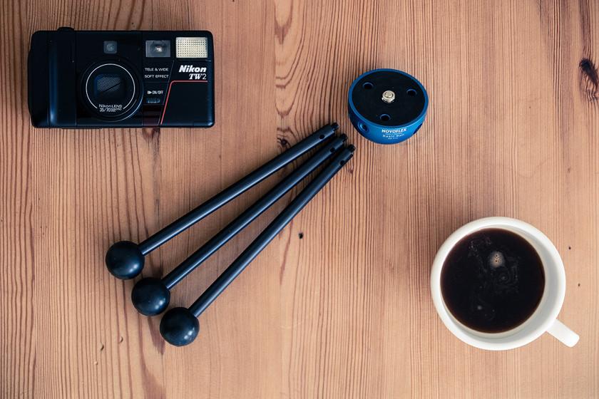 Klein, portabel und leicht aber sehr stabil: Das Novoflex Basic Ball Stativ.