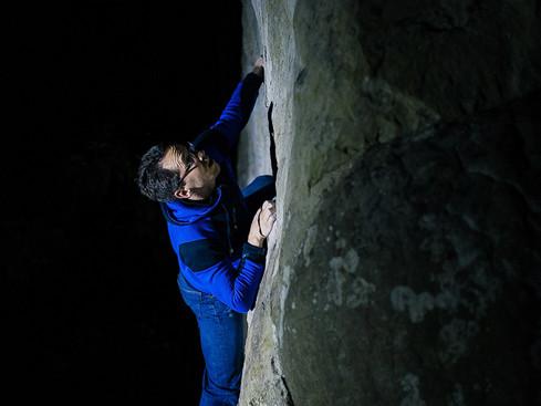Nightsession_Bouldern_Fontainebleau_Fokus