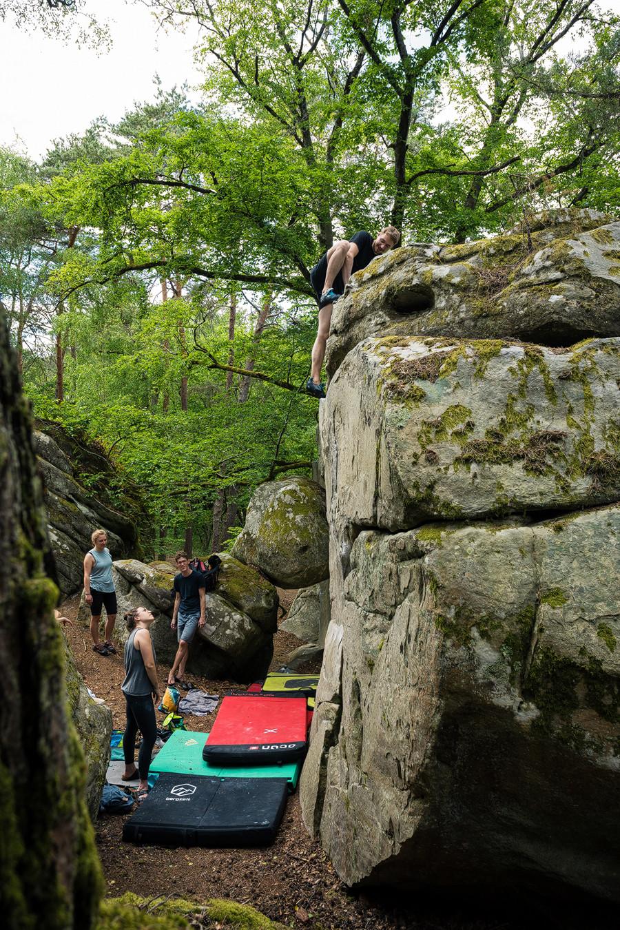 Highball: Bouldern Sportfotografie bastianpaas.de Fontainebleau