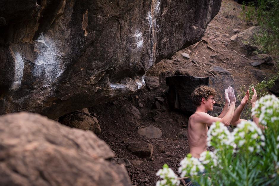 Bouldern in Mogan: War 'ne gute Zeit!
