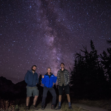 Posing Under the Milky Way