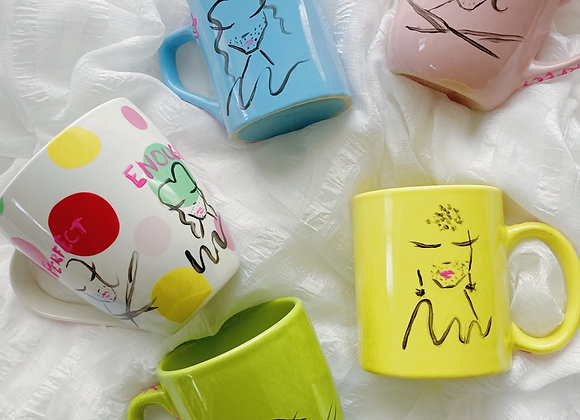 Positivity Guests 5 Piece Coffee Cup Set