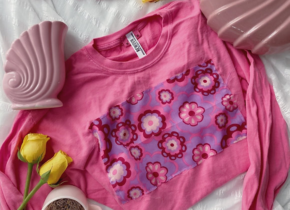 Groovy Blooms Graphic Patch Tee