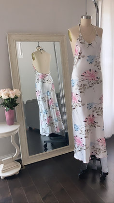 Sweet Flower Silky Dress