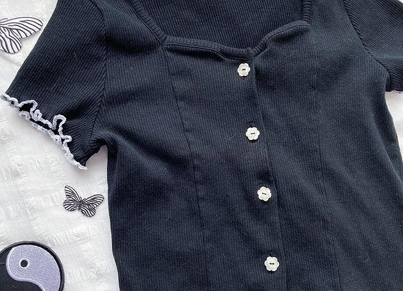 B&W Knit Corset Top