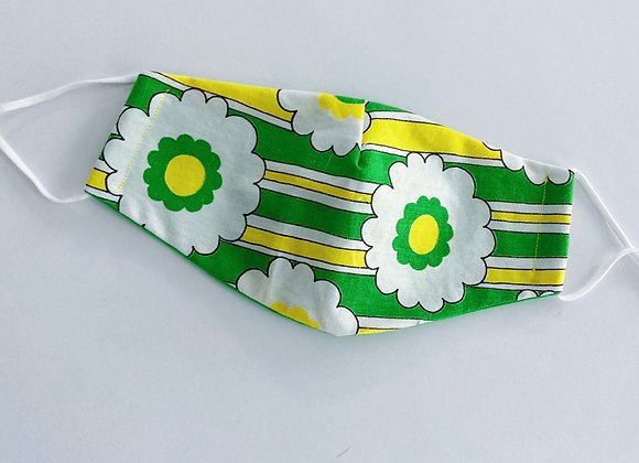 Sunny Blooms Vintage Fabric Face Mask