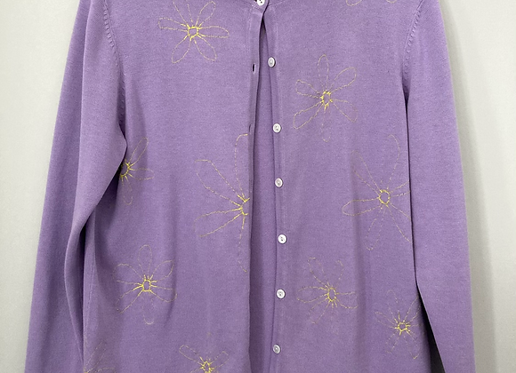 Lilac Embroidered Cardigan