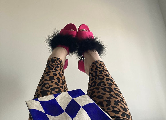 Funky Chunky Hot Pink Mules
