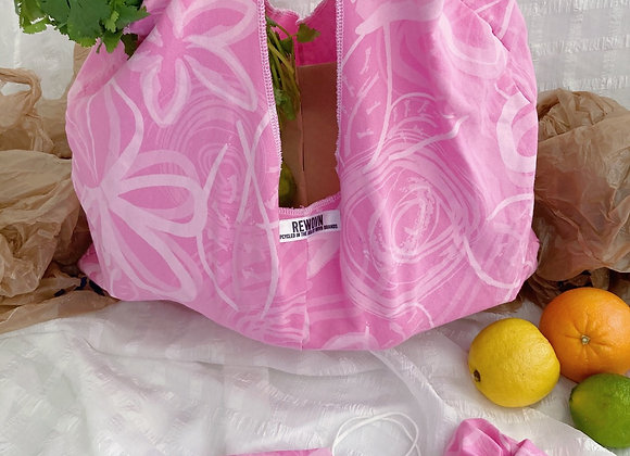 Pink Peonies Market Bag Set